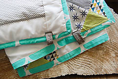 Textil - Baby ribon quilt boy (detský prehoz) - 8295213_