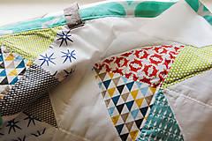 Textil - Baby ribon quilt boy (detský prehoz) - 8295214_