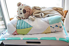 Textil - Baby ribon quilt boy (detský prehoz) - 8295216_