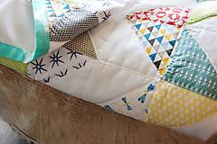 Textil - Baby ribon quilt boy (detský prehoz) - 8295221_