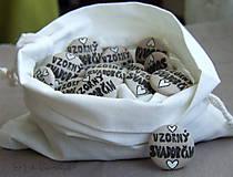 Svadobný odznak - pierko Vzorný svadobčan mini 3cm
