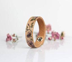 Náramky - Elegantný, kožený náramok