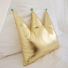 Textil - Vankúšik zlatá korunka - 8295626_