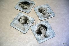 - drevené podložky pod poháre Vintage sivá 4 ks - 8296472_