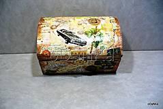 drevená truhlička Cestovateľ