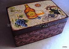 drevená truhlica Whiskey