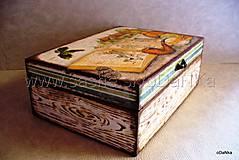 drevená truhlica Poľovnícka