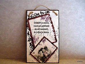 Tabuľky - tabuľka Srdce je doma II. - 8297957_