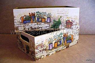 Nábytok - drevená sada bedničiek Bylinková záhrada - 8298179_