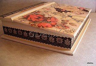 Nábytok - drevený sekretárik Nostalgia - 8298367_