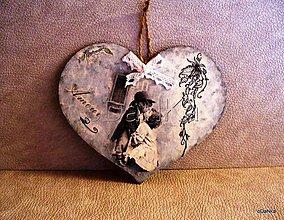 Tabuľky - Valentínka - srdiečko Amour II. - 8298469_