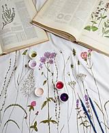 Sukne - Sukňa dlhá s bylinkami - ručne maľovaná - 8295675_
