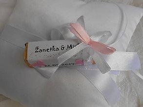 Darčeky pre svadobčanov - Svadobná čokoládka pre hostí s motýlikmi - 8297763_