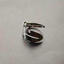 Prstene - Nerezový prsteň list púpavy nastaviteľný - 8295879_