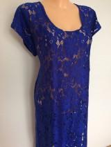 Šaty - Krajkové šaty-královská modrá - 8296936_