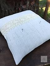 Ručne tkaný ľanový svadobný vankúšik