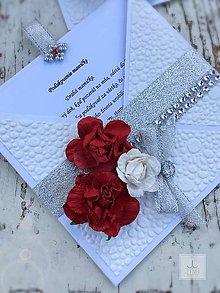 Papiernictvo - Poďakovanie rodičom červené - 8298681_