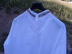 Oblečenie - Pánska ľudová košeľa - 8297250_