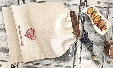 Úžitkový textil - Vrecúško z ľanového plátna pre každú maminku♥ - 8297610_