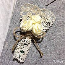 Pierka - Veľké svadobné pierka Village - svetlé maslové - 8296233_