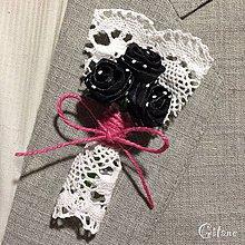 Pierka - Veľké svadobné pierka Village - čierne s bodkami - 8296305_