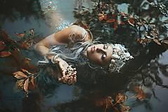 Ozdoby do vlasov - fantasy koruna s perličkami - 8298324_