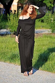 Šaty - BOHO šaty univerzální - černé, vel. S - M - 8295568_
