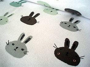 Textil - Teplákovina - BUNNIES - 8300247_