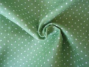 Textil - Zelená - mini bodky - 8300289_