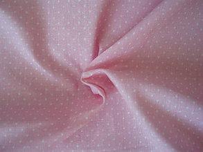 Textil - Svetloružová - mini bodky - 8300320_