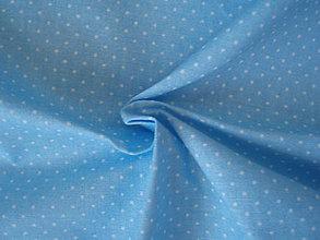 Textil - Svetlomodrá - mini bodky - 8300456_