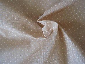 Textil - Béžová - mini bodky - 8300855_