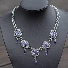 Náhrdelníky - Dotek Provance - Swarovski náhrdelník - 8301557_
