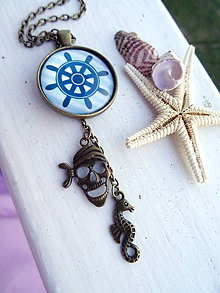 Náhrdelníky - ZĽAVA!! Bronzový náhrdelník *Piráti z karibiku* - 8298721_
