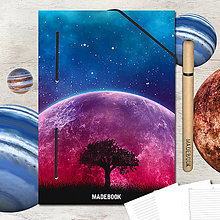 Papiernictvo - MADEBOOK kniha A5 - ASTRO strom - 8299583_