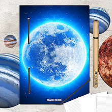 Papiernictvo - MADEBOOK kniha A5 - ASTRO mesiac - 8299604_