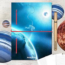 Papiernictvo - MADEBOOK kniha A5 - ASTRO astronaut - 8299645_