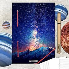 Papiernictvo - MADEBOOK kniha A5 - ASTRO hviezdy - 8299680_
