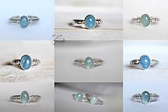 Prstene - Strieborný prsteň s akvamarínom - Nebíčko - 8299103_