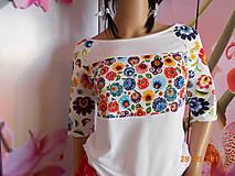 FLORAL FOLK - tričko ako maľované ♥♥♥