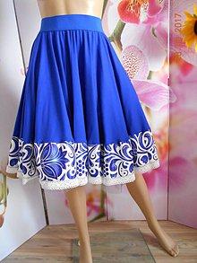 Sukne - FLORAL FOLK - kruhová sukňa s vačkami - 8300902_