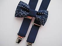 - Detský set z modrej gumy a vzorovaného motýlika - 8300200_