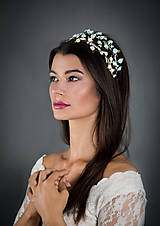 Ozdoby do vlasov - Jemné kvetinové čelenky v bledomodrej a bielej farbe - 8298720_