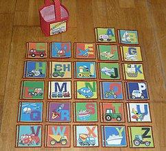 Hračky - Pexeso látkové ABECEDA- dva varianty  (2) - 8299849_