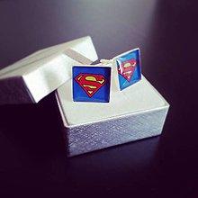 Šperky - Manžetové gombíky Superman - 8302093_