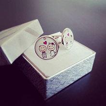 Šperky - Svadobné manžetové gombíky - 8302116_
