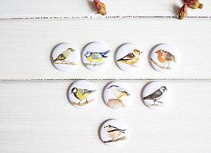 Dekorácie - Magnetky Vtáčiky, 8 ks - 8301654_
