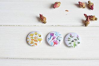 Dekorácie - Magnetky Kvety, 3 ks - 8301682_
