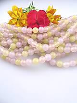 Minerály - jadeit trojfarebný korálky - cena za 3ks - 8300017_