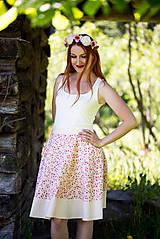 Sukne - Kvetinková sukňa - 8298908_